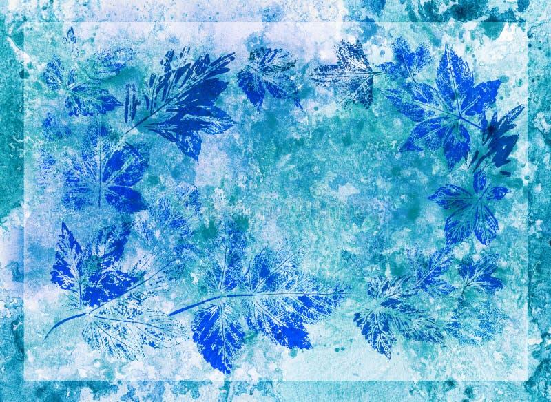 Fondo abstracto, acuarela, hojas ilustración del vector
