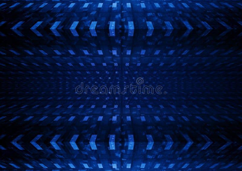 Fondo abstracto ajustado azul ilustración del vector