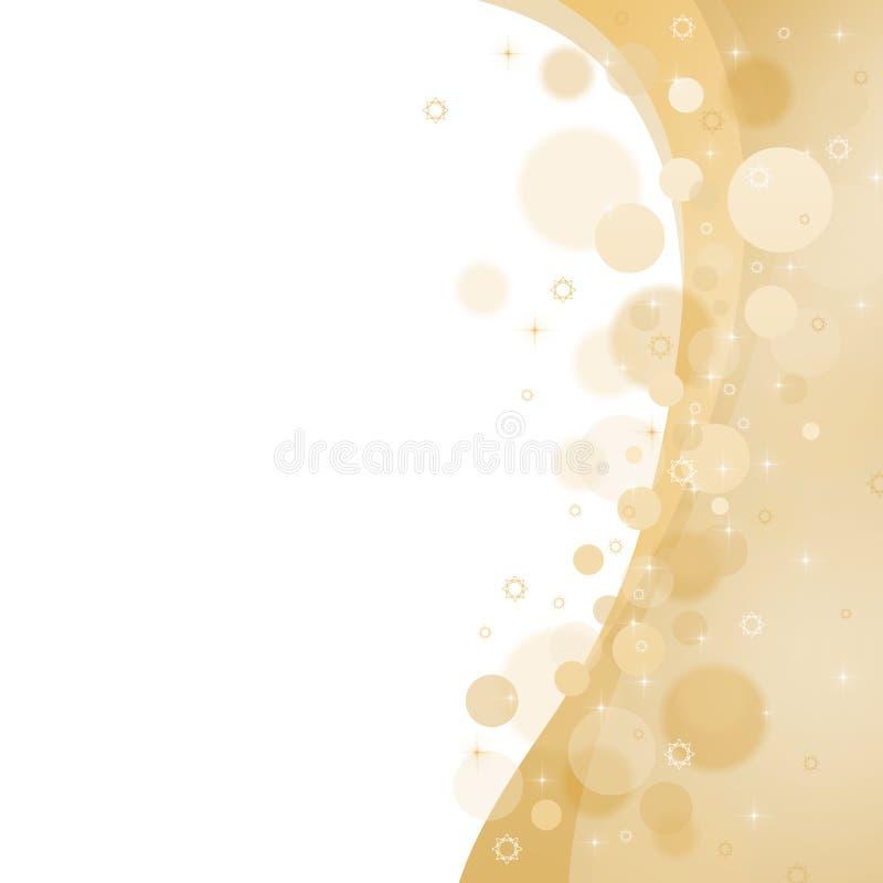 Fondo abstracto amarillo de la Navidad stock de ilustración