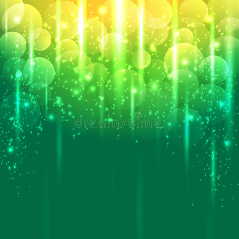 Fondo abstracto amarillo verde claro y del oro del vector stock de ilustración