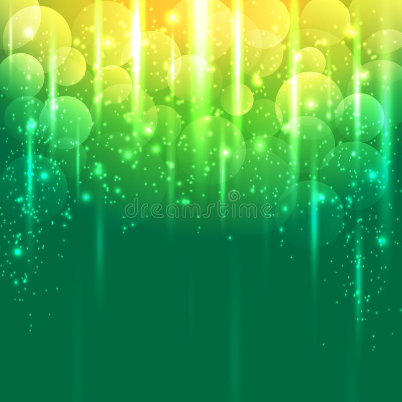 Fondo abstracto amarillo verde claro y del oro del vector libre illustration