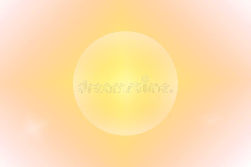 Fondo abstracto anaranjado con el círculo libre illustration