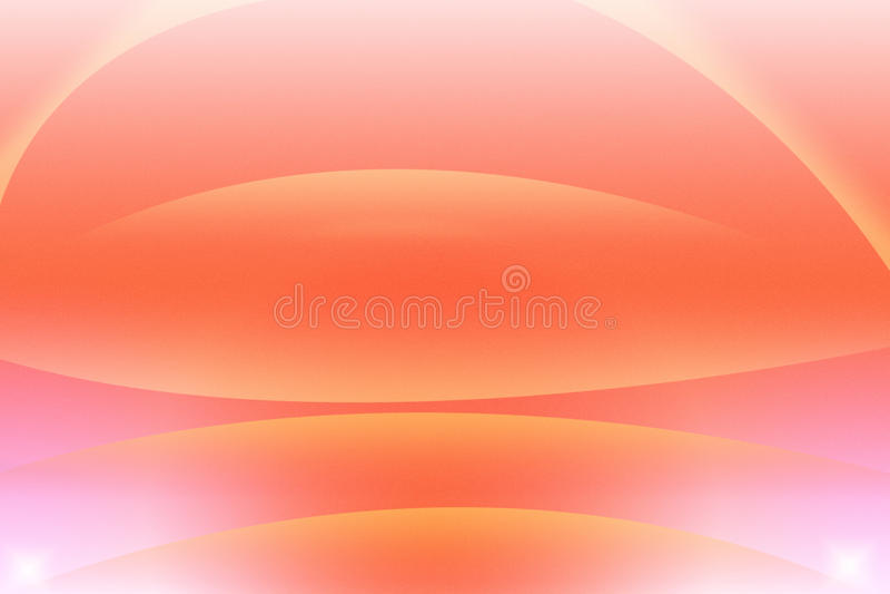 Fondo abstracto anaranjado con el círculo stock de ilustración