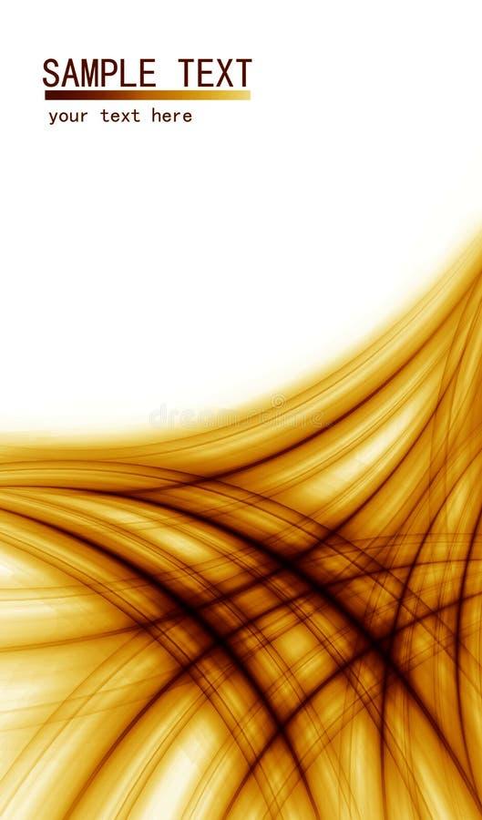 Fondo abstracto anaranjado para los folletos stock de ilustración