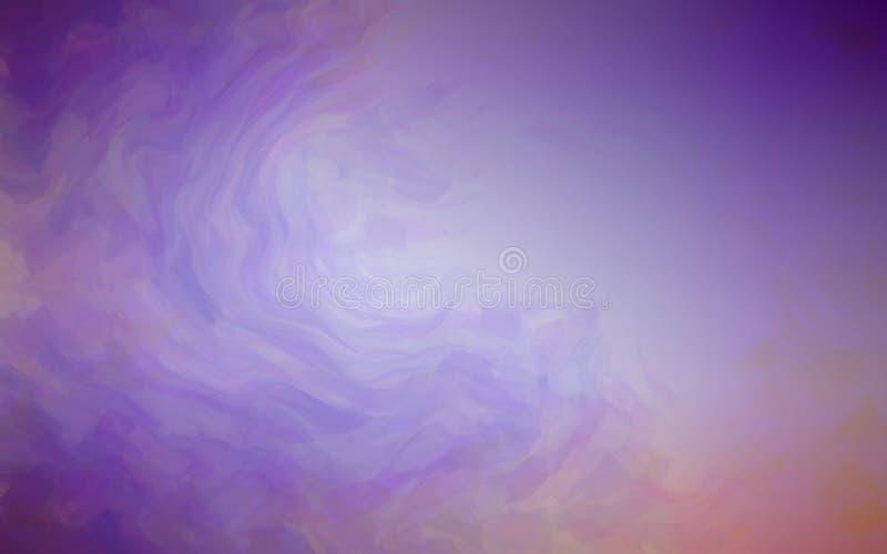 Fondo abstracto artístico con el cepillo gráfico del estilo de la acuarela con color ultravioleta moderno ilustración del vector