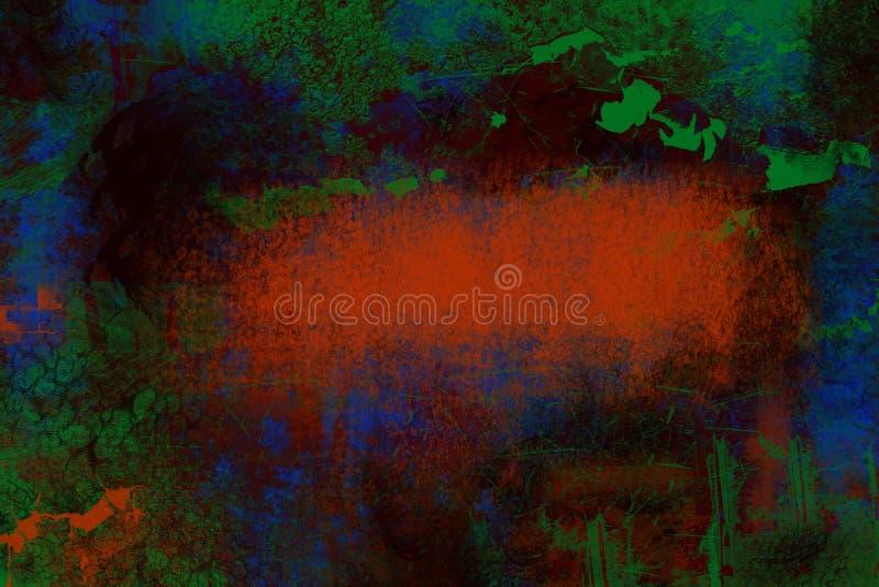 Fondo abstracto azul anaranjado verde de la textura del grunge fotografía de archivo