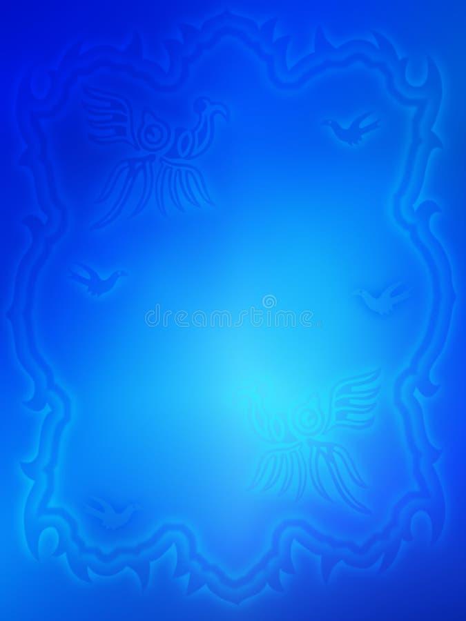 Fondo abstracto azul brillante libre illustration