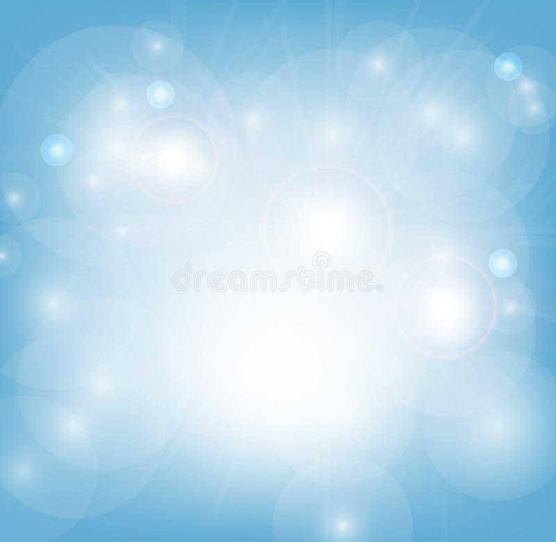 Fondo abstracto azul claro ilustración del vector