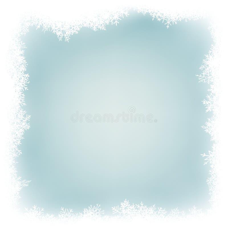 Fondo abstracto azul claro de la Navidad con los copos de nieve blancos EPS 10 stock de ilustración