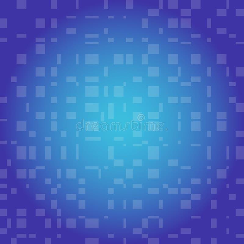 Fondo abstracto azul con rectángulos transparentes bajos Textura abstracta del color azul ilustración del vector