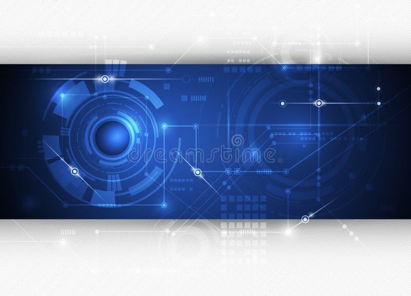 Fondo abstracto azul de alta tecnología de la tecnología del ejemplo del vector stock de ilustración