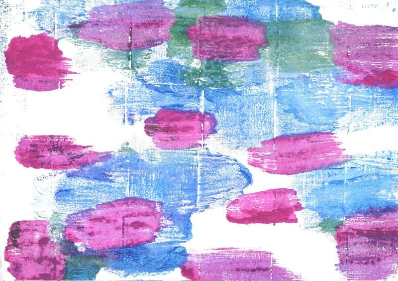 Fondo abstracto azul de la acuarela de Jordy foto de archivo