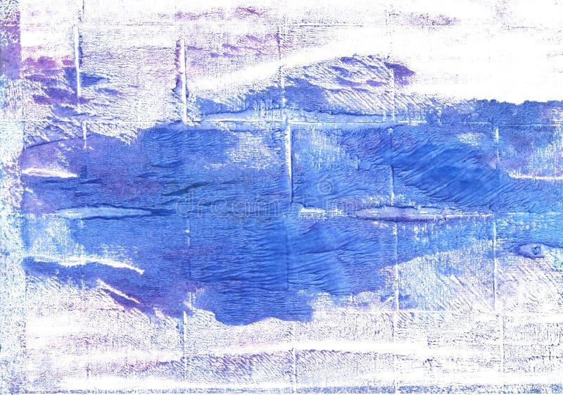 Fondo abstracto azul de la acuarela del aciano ilustración del vector