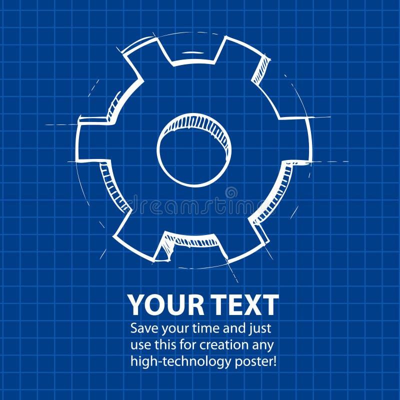 Fondo abstracto azul de Techno ilustración del vector