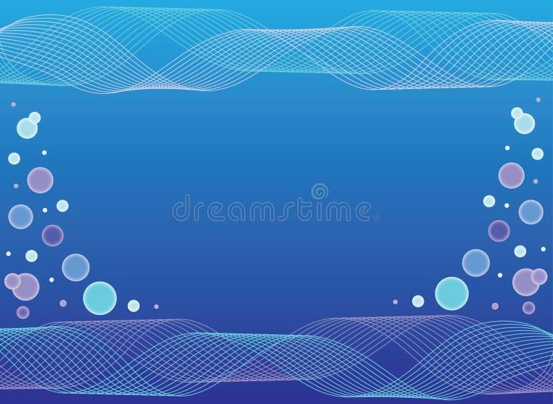 Fondo abstracto azul del agua ilustración del vector