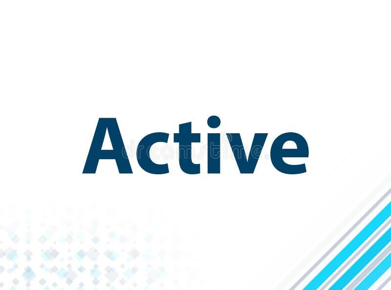 Fondo abstracto azul del diseño plano moderno activo ilustración del vector