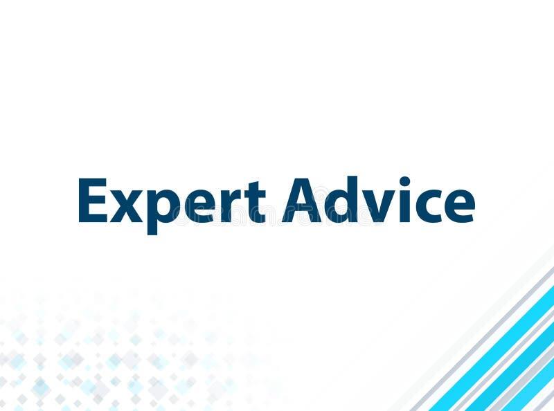 Fondo abstracto azul del diseño plano moderno del asesoramiento de experto ilustración del vector