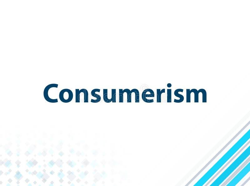 Fondo abstracto azul del diseño plano moderno del consumerismo stock de ilustración
