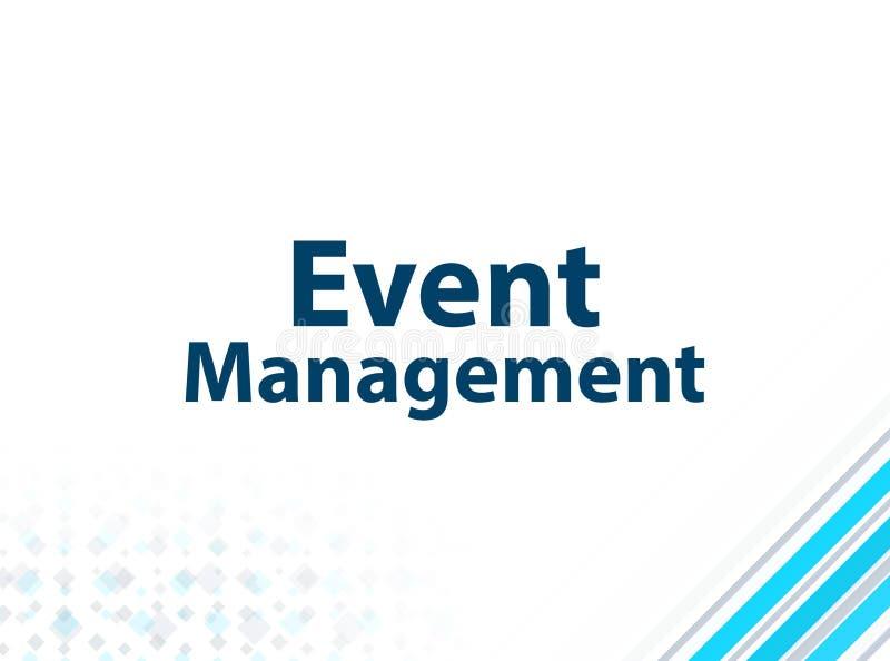 Fondo abstracto azul del diseño plano moderno de la gestión del acontecimiento libre illustration
