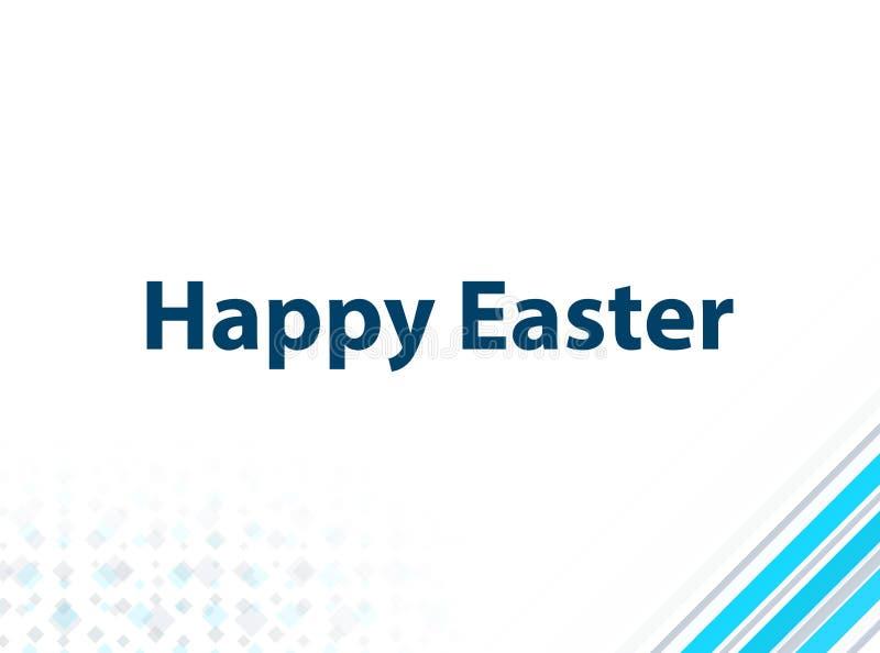 Fondo abstracto azul del diseño plano moderno feliz de Pascua stock de ilustración