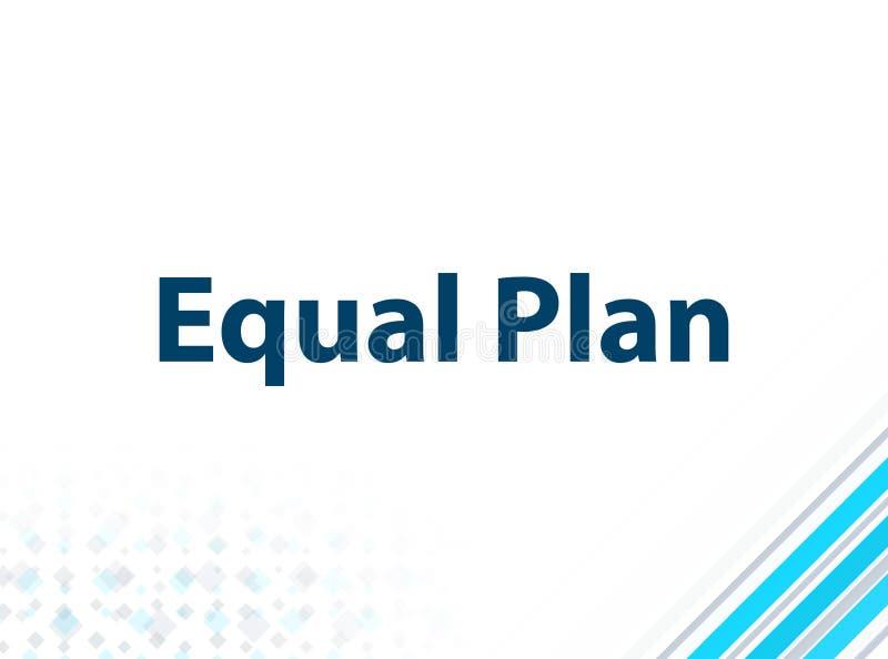 Fondo abstracto azul del diseño plano moderno del plan del igual stock de ilustración