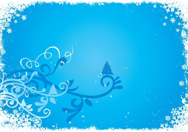 Fondo abstracto azul del invierno stock de ilustración