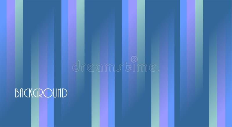 Fondo abstracto azul, líneas coloridas, para el negocio, bandera, extracto, stock de ilustración