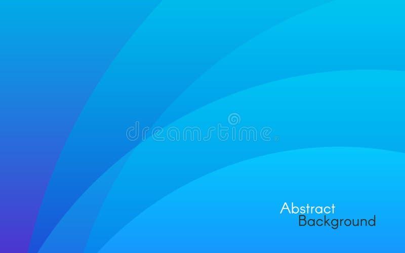 Fondo abstracto azul Líneas simples y luz suave Contexto mínimo para el sitio web Modelo del diseño Pendientes y formas del color ilustración del vector