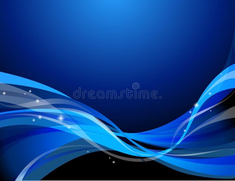 Fondo abstracto azul marino ilustración del vector