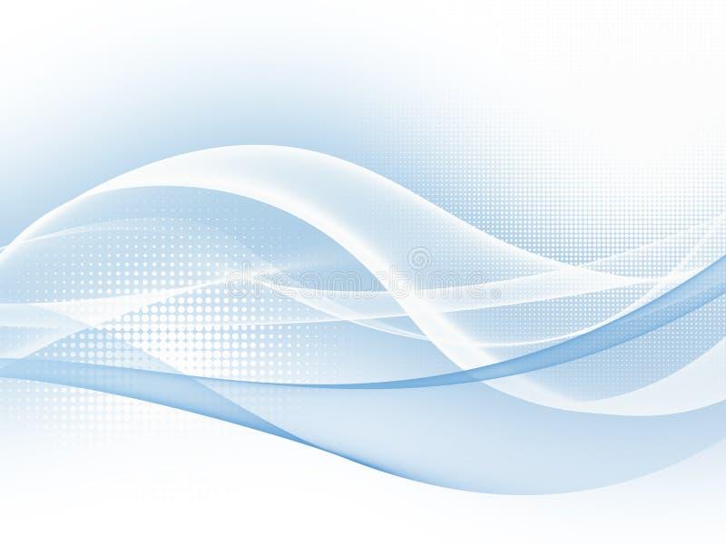 Fondo abstracto azul suave de la onda del gráfico de negocio stock de ilustración