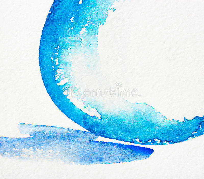 Fondo abstracto azul y blanco de la acuarela libre illustration
