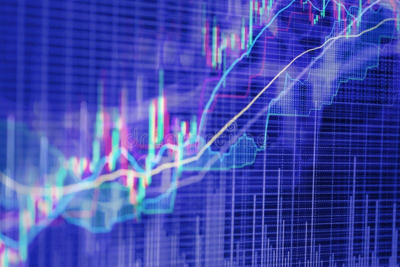 Fondo abstracto basado en gráficos del mercado de acción foto de archivo libre de regalías