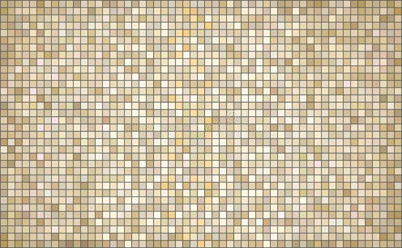 Fondo abstracto beige del mosaico ilustración del vector