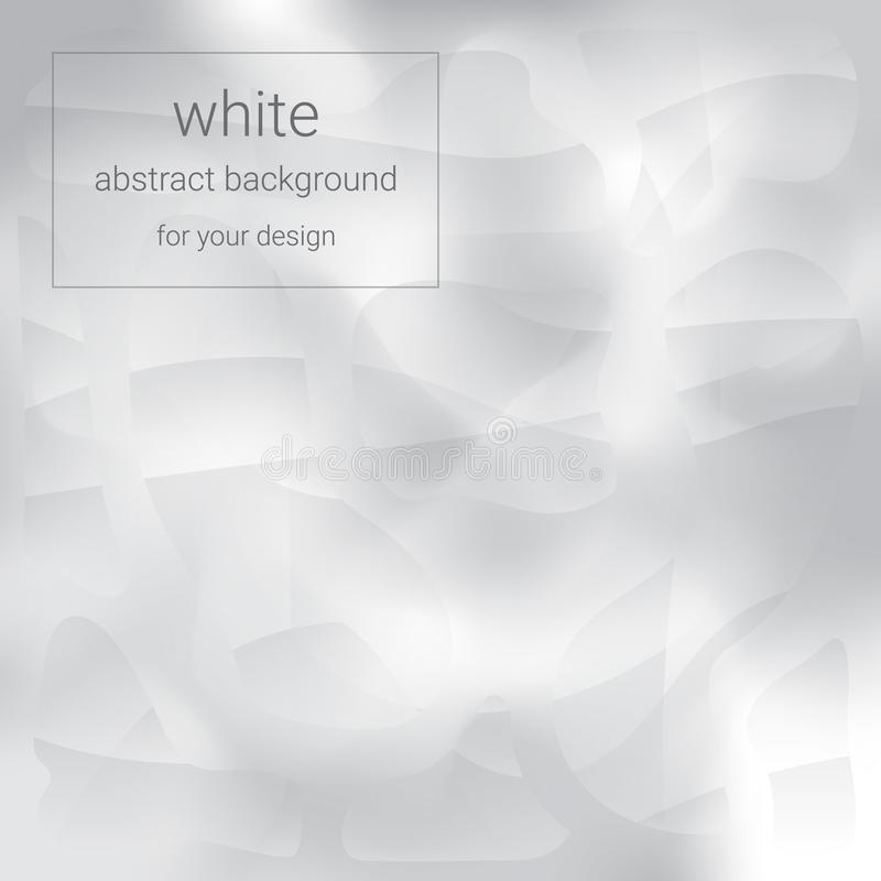 Fondo abstracto blanco ilustración del vector