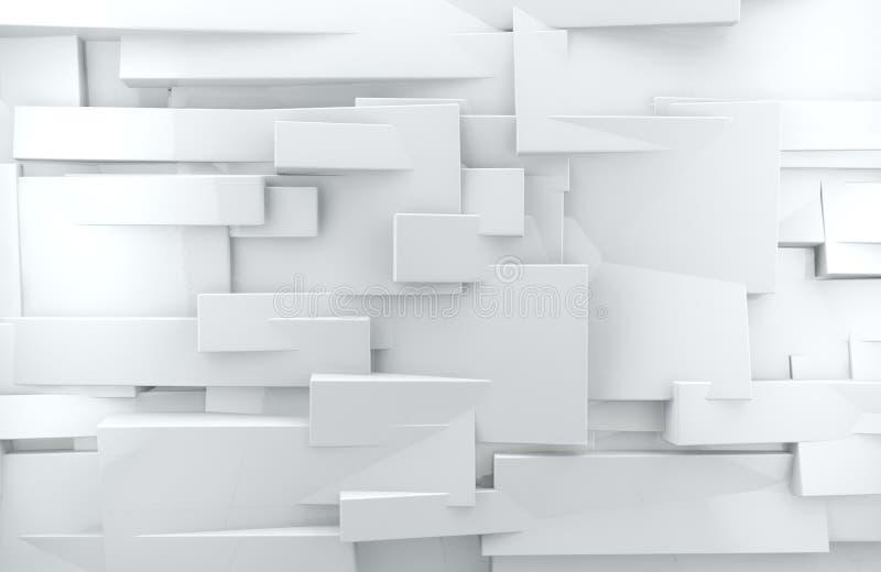 Fondo abstracto blanco 3d ilustración del vector