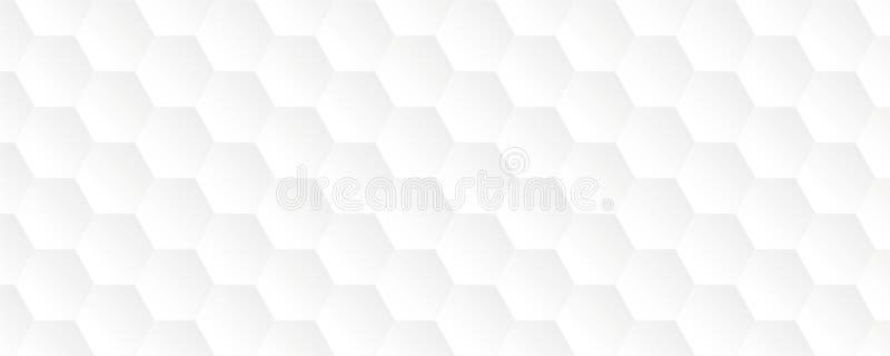 Fondo abstracto blanco brillante del panal libre illustration