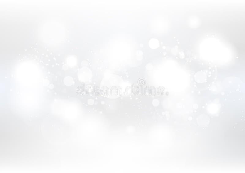 Fondo abstracto blanco, la Navidad y Año Nuevo, invierno, nieve, ejemplo estacional del vector de la celebración del día de fiest stock de ilustración
