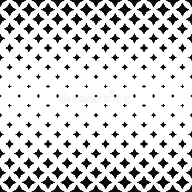 Fondo abstracto blanco negro del modelo del polígono ilustración del vector