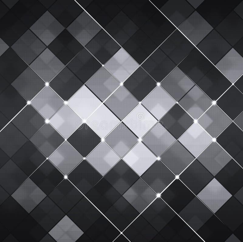 Fondo abstracto blanco y negro de la tecnología stock de ilustración