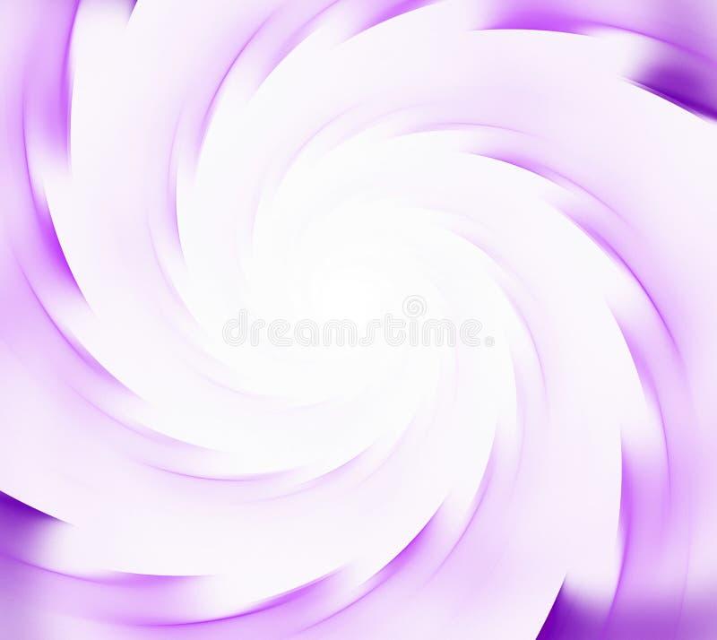 Fondo abstracto blanco y púrpura Rayos espirales del sunflare C libre illustration