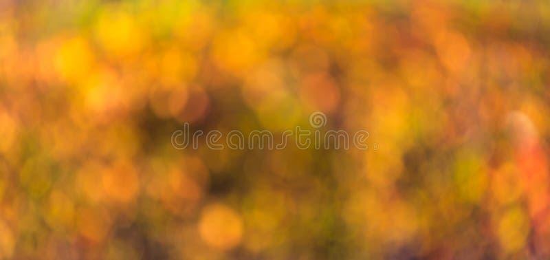 Fondo abstracto borroso otoño imagenes de archivo
