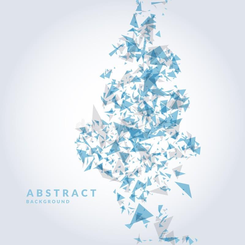 Fondo abstracto brillante con los triángulos de la explosión Ilustración del vector libre illustration