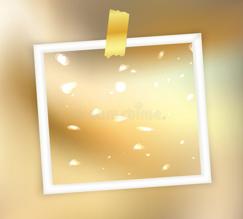 Fondo abstracto brillante de oro de la Feliz Navidad stock de ilustración