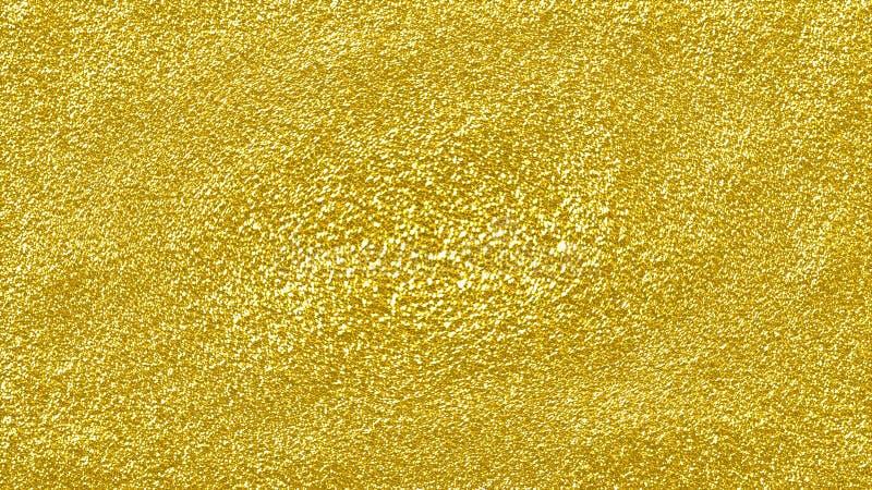 Fondo abstracto brillante del brillo del oro superficie de oro texturizada áspera del brillo libre illustration