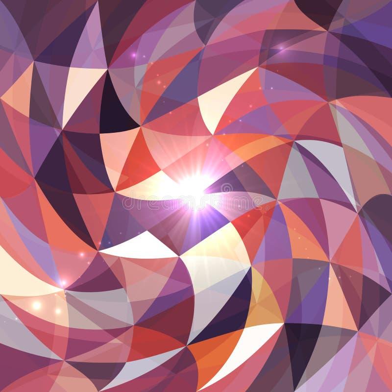 Fondo abstracto brillante del vector de la rejilla de los triángulos stock de ilustración