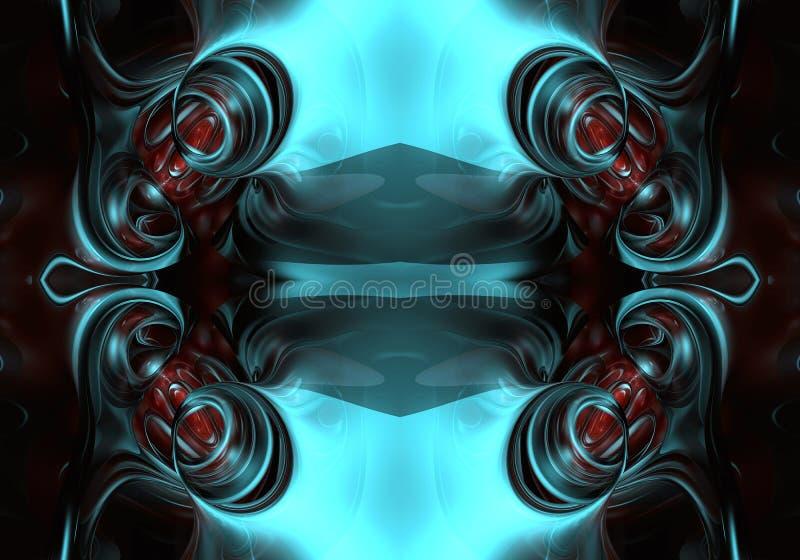 fondo abstracto brillante enérgico futurista multicolor único artístico generado por ordenador de las ilustraciones de los fracta stock de ilustración
