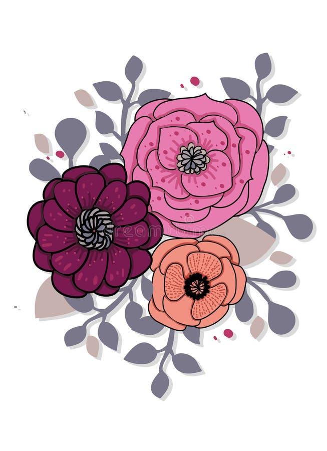 Fondo abstracto brillante floral stock de ilustración