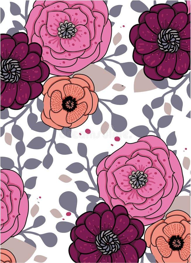 Fondo abstracto brillante floral libre illustration