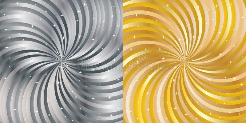 Fondo abstracto brillante - oro y plata libre illustration