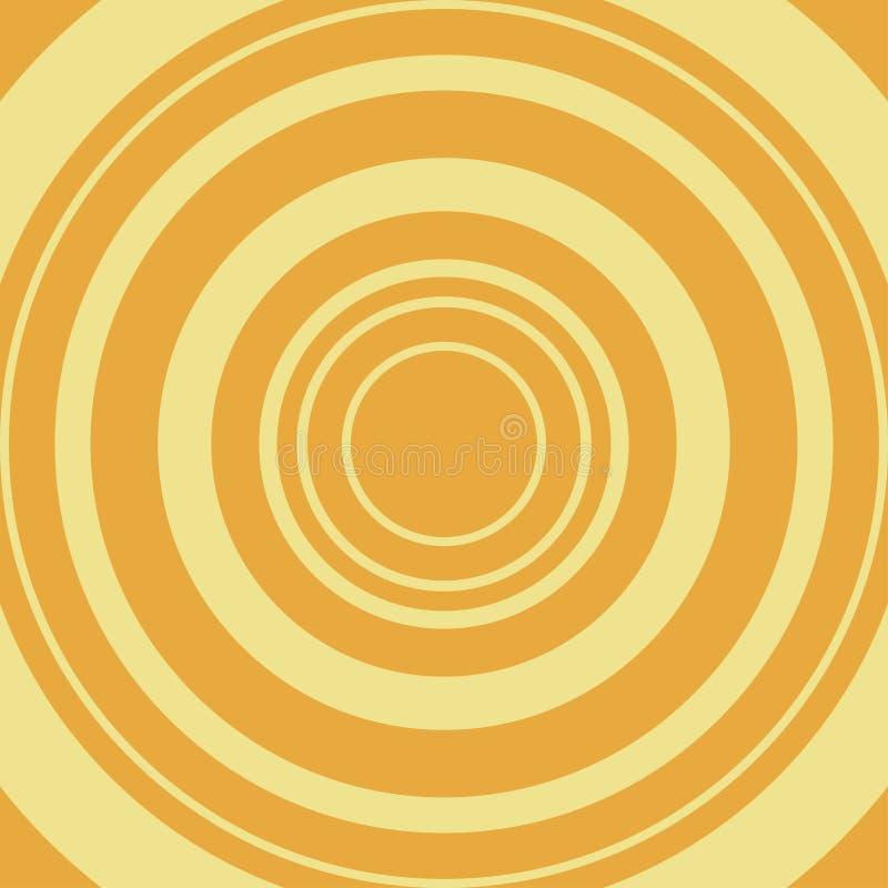Fondo abstracto cómico Círculo amarillo en el contexto anaranjado Vector stock de ilustración